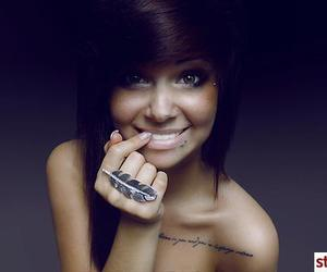 girl, tattoo, and piercing image
