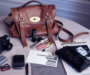bag, blackberry, and camera image