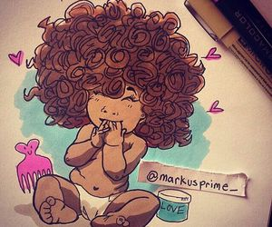Afro and curly image