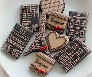 Cookies, paris, and chocolate image