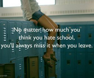 girl, lockers, and quote image