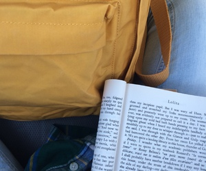 aesthetic, bag, and book image