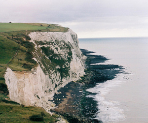sea, cliff, and nature image
