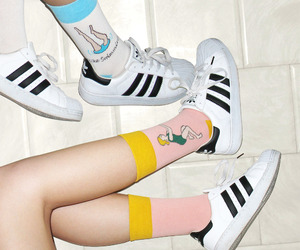 adidas, socks, and grunge image