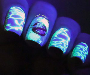 Ghostbusters, nail art, and glow in the dark image