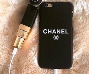 black, chanel, and iphone image