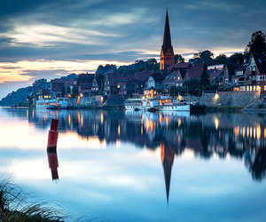beauty, germany, and mirror image