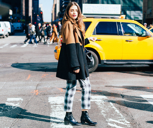 fall fashion, street style, and long brown hair image