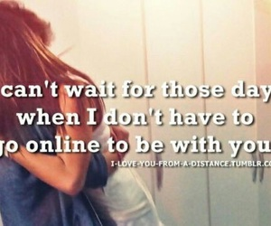 distance, quote, and love image