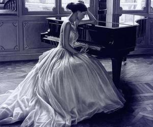 piano and dress image