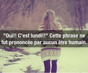 francais, girl, and monday image