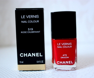 chanel, nails, and red image