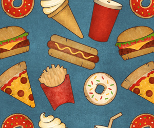 fast food and pattern image
