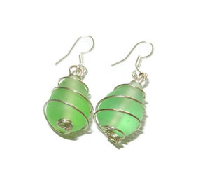 etsy, wire wrapped jewelry, and wire wrapped earring image