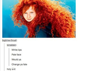 ed sheeran, brave, and funny image