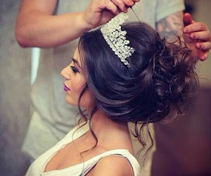 wedding, hair, and style image