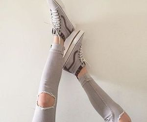 vans, grey, and shoes image