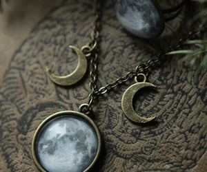 moon, pagan, and neckles image