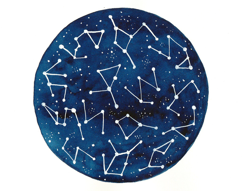 art, constellations, and sky image