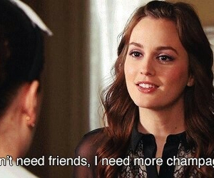 gossip girl, blair waldorf, and champagne image