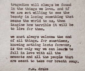quote, tragedy, and rmdrake image