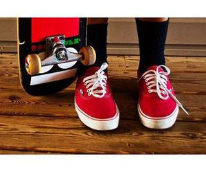 red, vans, and black image
