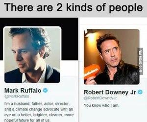 funny, mark ruffalo, and robert downey jr image