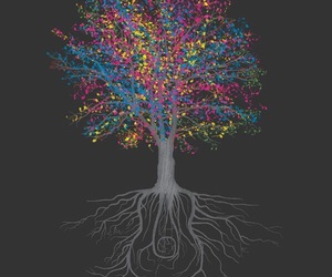 colors, tree, and art image