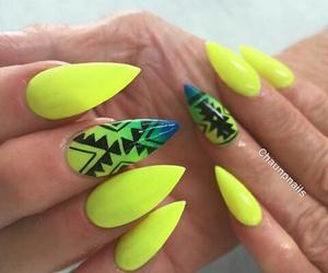 aztec, nail art, and nails image