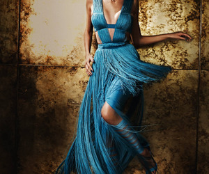 dress, girl, and blue image