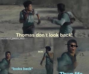 the maze runner, thomas, and minho image