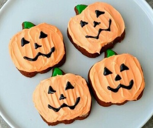 Halloween, pumpkin, and food image