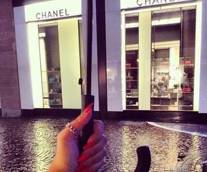 chanel, nails, and umbrella image