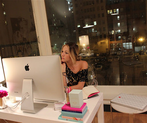 appartment, city, and desk image