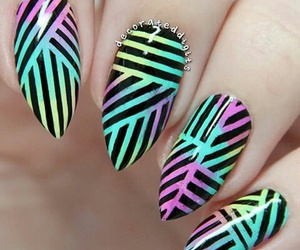 colors, nails, and lines image