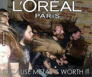 funny, hair, and metal image