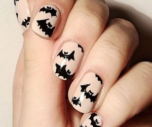 nails, Halloween, and bats image