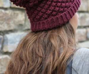 hair, beanie, and style image