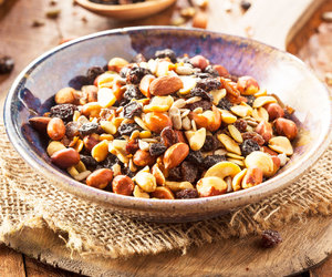 food, nuts, and trail mix image