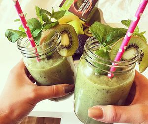 drinks, healthy, and smoothie image