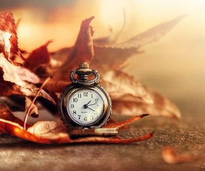 autumn, clock, and photography image
