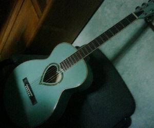 guitar, heart, and beautiful image