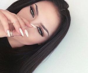 girl, nails, and makeup image