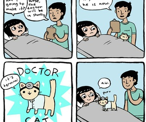 cat, funny, and doctor image