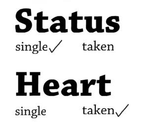 heart, single, and love image