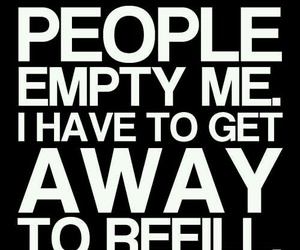 people, empty, and quote image
