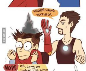 funny, Avengers, and spiderman image