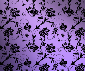 flower, pattern, and purple image
