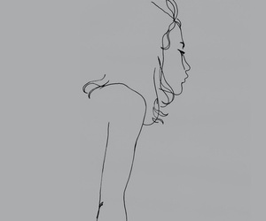 drawing, ink, and girl. image