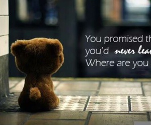 quote, promise, and leave image